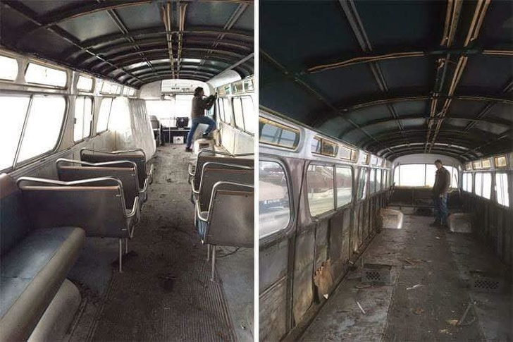 AWoman Spent3 Years Reconstructing anOld Bus and Now ItLooks Cooler Than Any Cozy Family Home