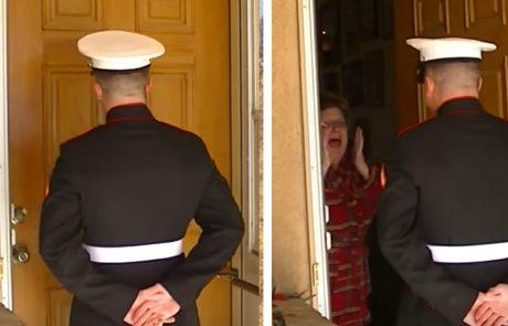 החייל הפתיע את אימו בבוקר חג המולד ותגובתה המרגשת גרמה לכולם להזיל דמעה!