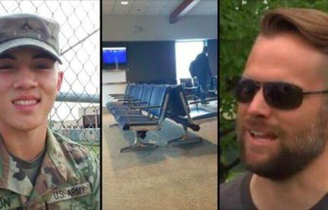 חייל נתקע בשדה התעופה במשך יומיים, לא יכול להגיע הביתה, עד שזר ניגש אליו עם הצעה שהוא לעולם לא ישכח