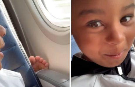בן הארבע נוזף בנוסעת במטוס שרגליה מסריחות והופך במהרה לגיבור רשת!