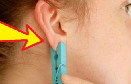 היא שמה אטב כביסה על האוזן. אתם חושבים שזו שטות? הסיבה גאונית!