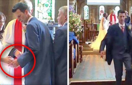 באמצע החתונה החתן המבוהל הזה הבין שטעה וברח מהטקס- צפו בקטע המלא