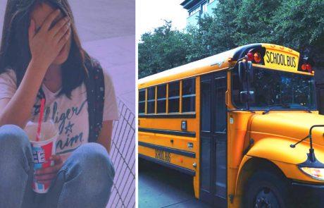 הצעירה קיבלה את המחזור הראשון שלה באוטובוס ואחד הילדים מיהר לגשת אליה וללחוש לה מילים שגרמו לה להלם