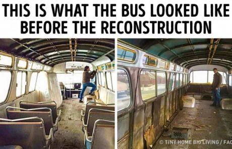 אישה הקדישה שלוש שנים בשחזור אוטובוס ישן, ועכשיו הוא נראה מגניב יותר מכל בית משפחתי ונעים אחר